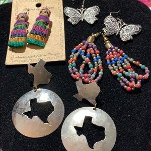 Jewelry - LOT OF 4 PAIRS OF PIERCED EARRINGS